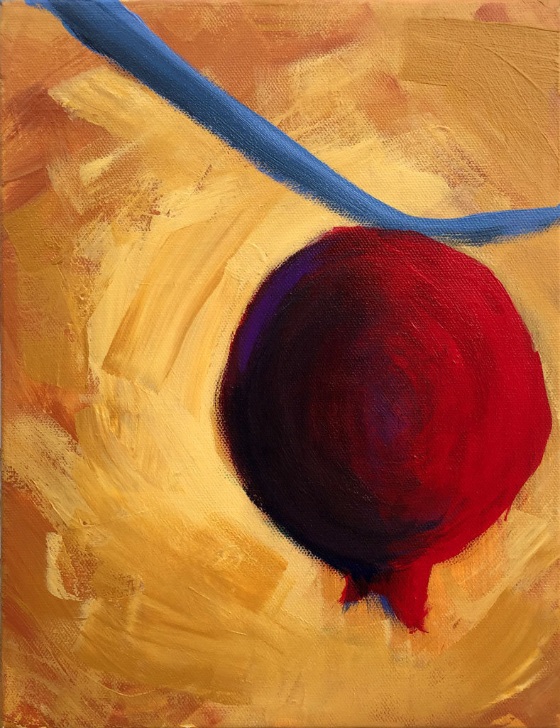 Pomegranate / This painting by Joshua Wait is a personal reflection on his grandmother's dementia