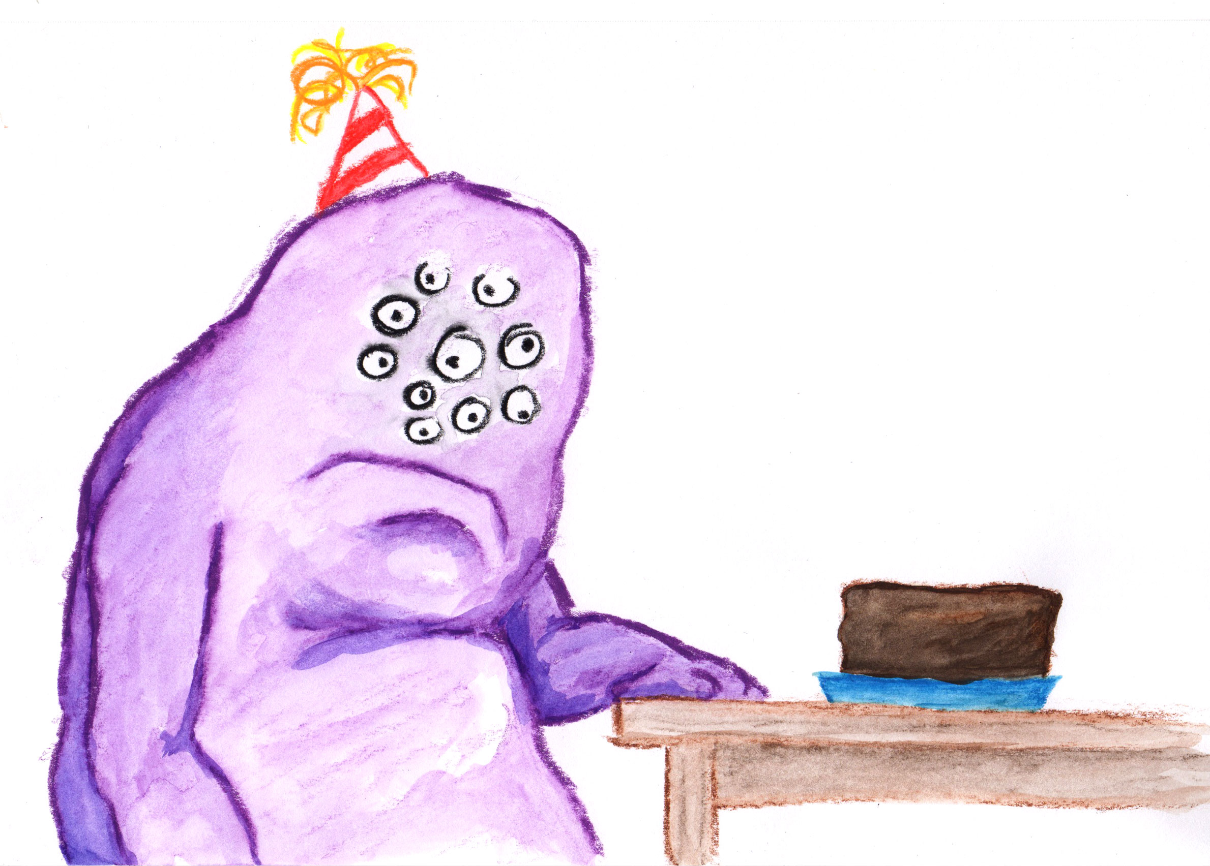 Monster with Cake